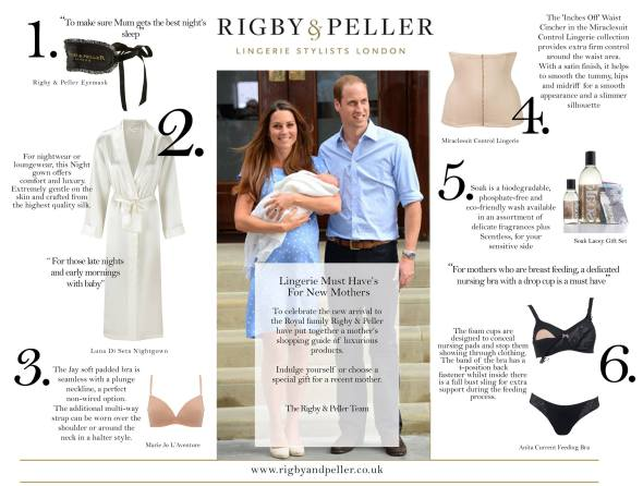 Rigby & Peller recommends Soak for Royal moms